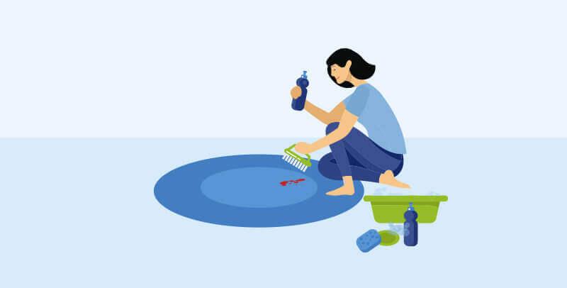 איך להסיר כתמי דם מהשטיח