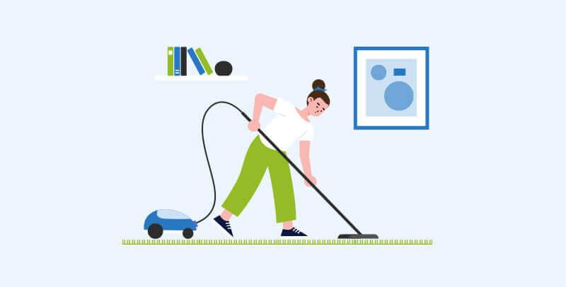 איך לנקות שטיחי שאגי לבד
